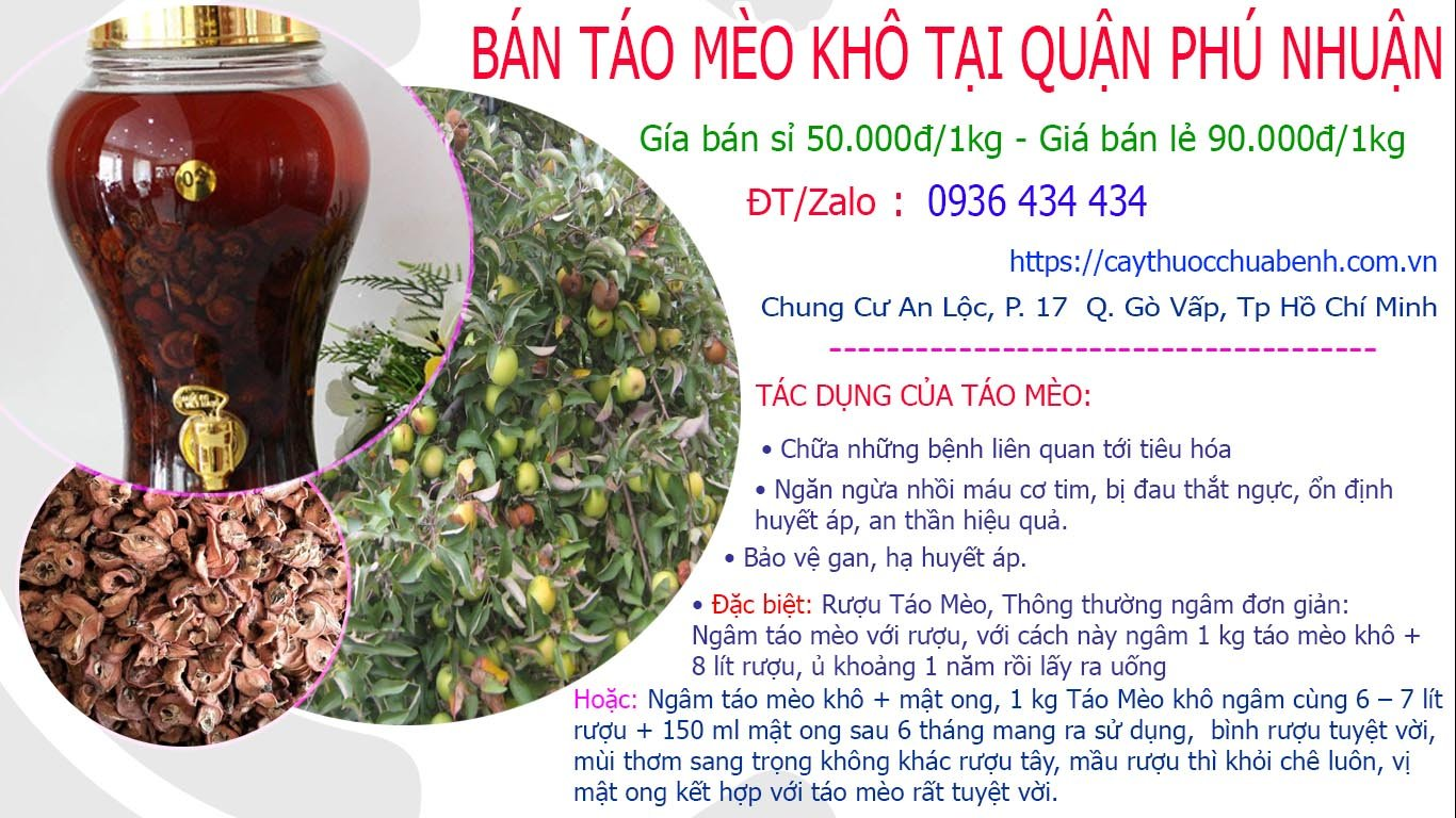 Bán Táo Mèo khô ngâm rượu uy tín tại Quận Phú Nhuận giá từ 50k
