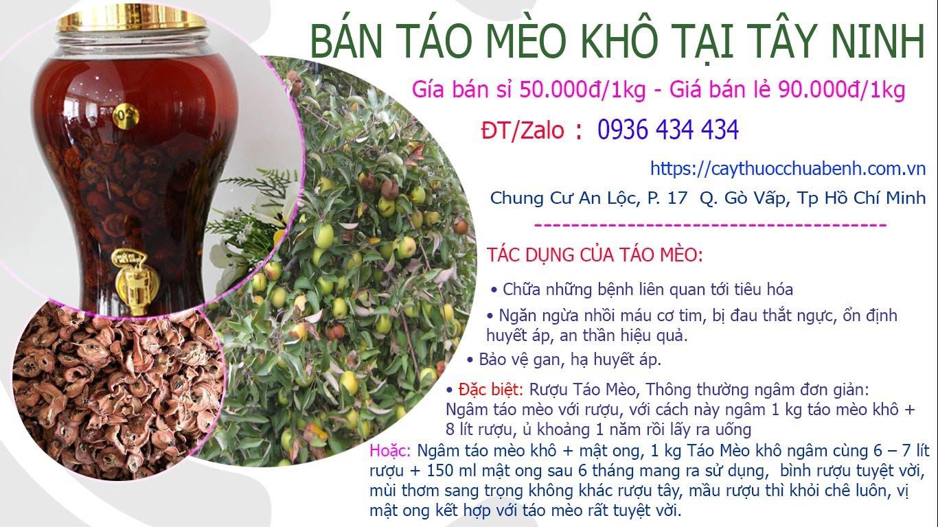 Bán Táo Mèo khô ngâm rượu uy tín tại Tây Ninh giá từ 50k
