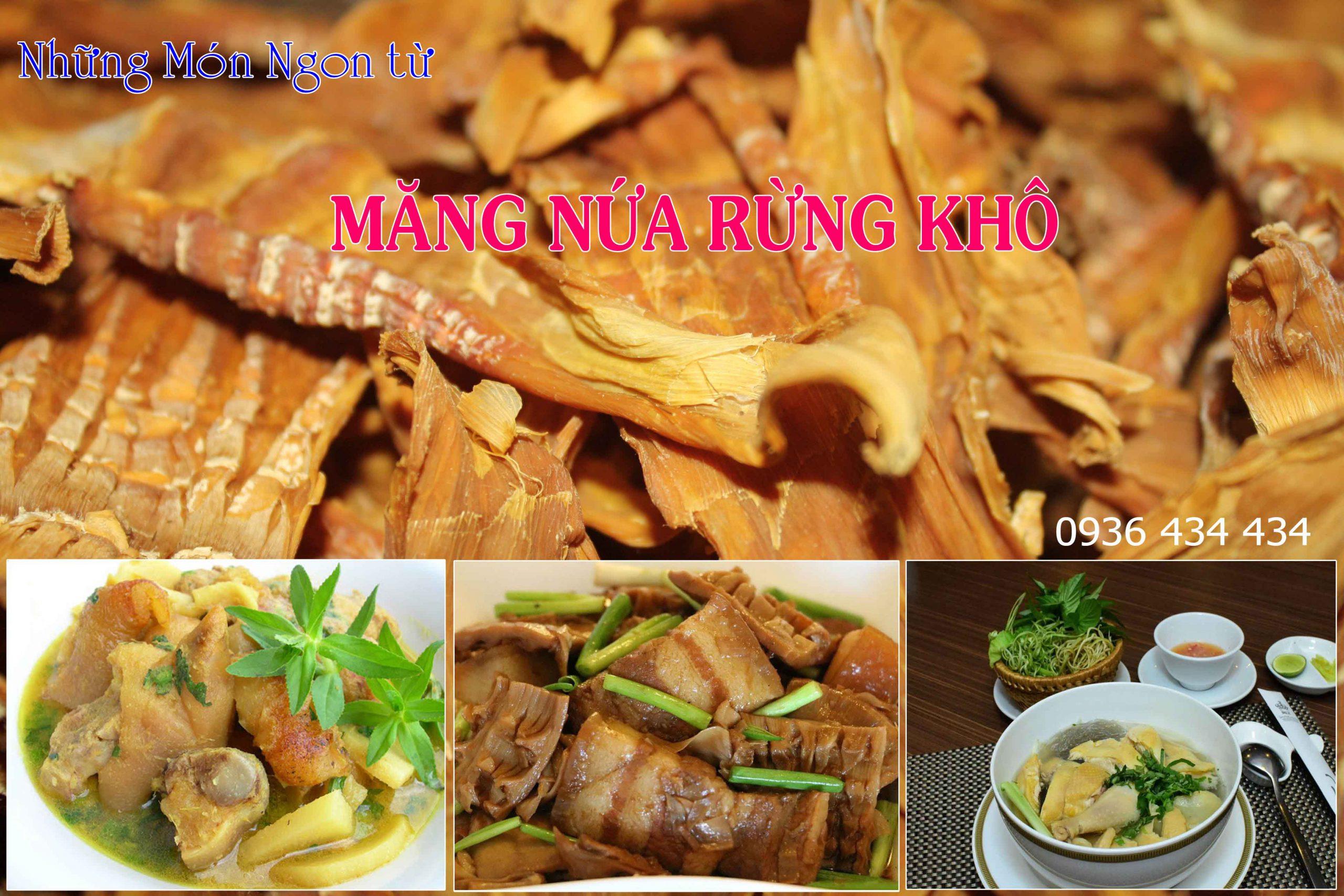 Những món ăn từ Măng Nứa khô - Dược Liệu Hồng Lan